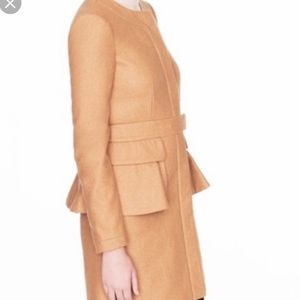 J. Crew Wool Cashmere Peplum Coat